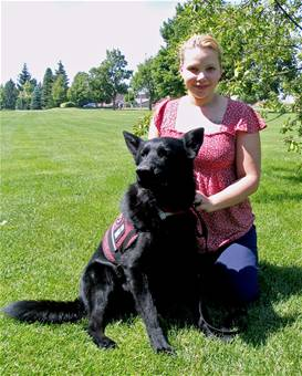 Service dog aids Fairchild family member